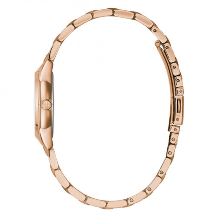 BULOVA Diamonds Rose Gold Stainless Steel Bracelet
