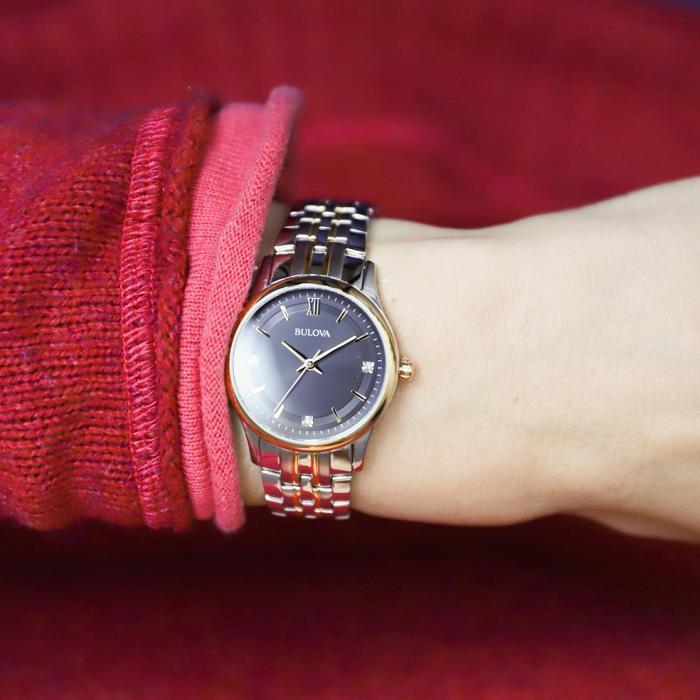 BULOVA Diamonds Two Tone Stainless Steel Bracelet