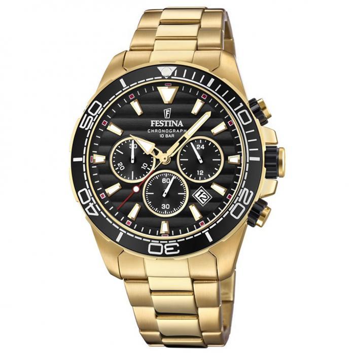 SKU-45776 / FESTINA Prestige Chronograph Gold Stainless Steel Bracelet
