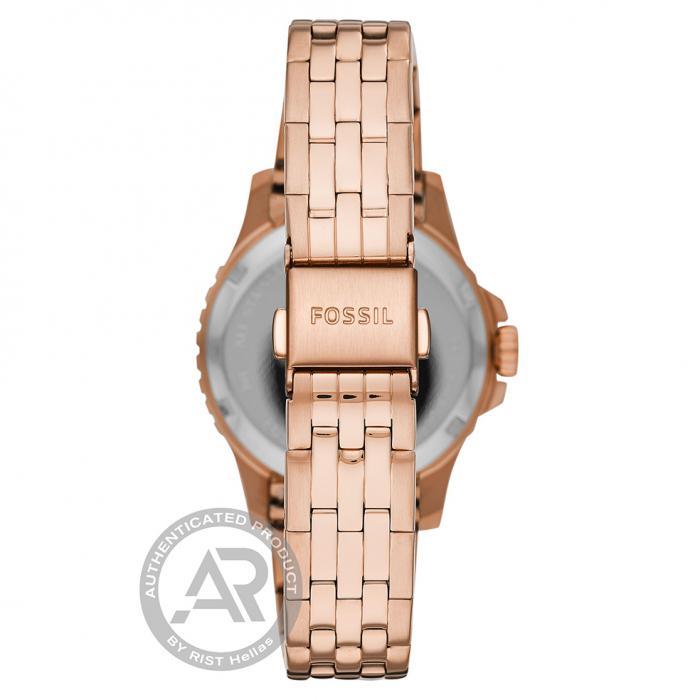SKU-45155 / FOSSIL FB-01 Rose Gold Stainless Steel Bracelet
