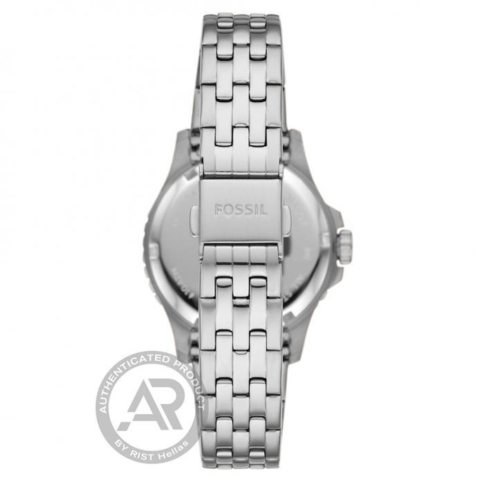 FOSSIL FB-01 Silver Stainless Steel Bracelet