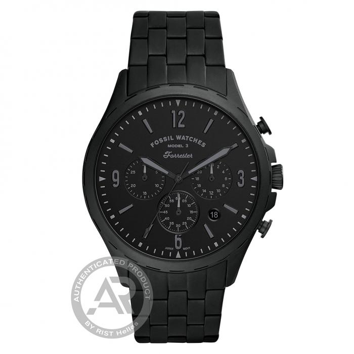 SKU-45160 / FOSSIL Forrester Chronograph Black Stainless Steel Bracelet
