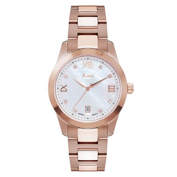 SKU-45748 / JCOU Pearl Rose Gold Stainless Steel Bracelet