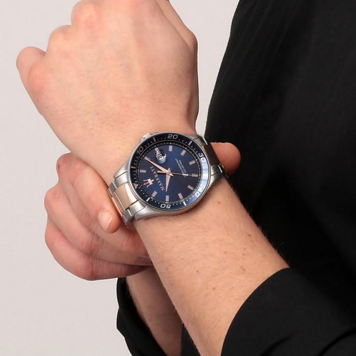 MASERATI Sfida Two Tone Stainless Steel Bracelet