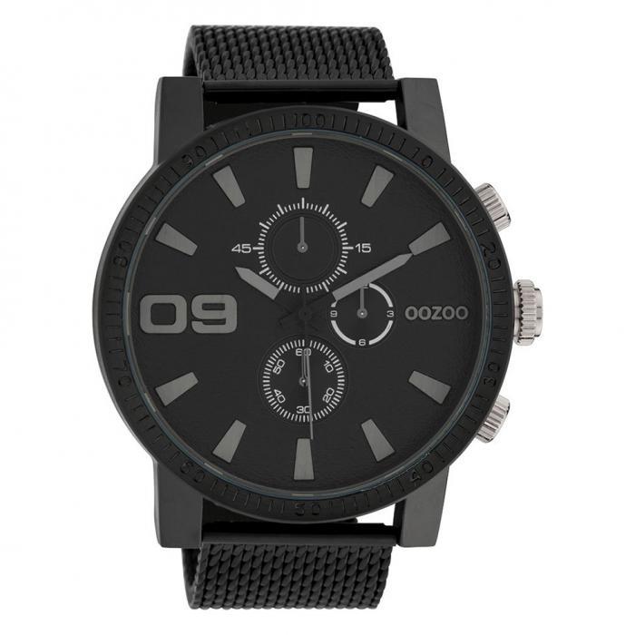 SKU-45666 / OOZOO Timepieces Black Stainless Steel Bracelet