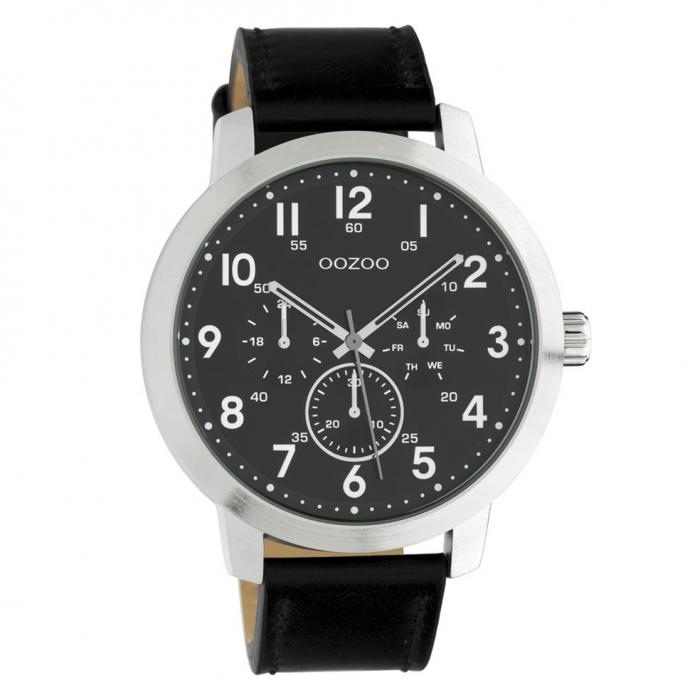 SKU-45657 / OOZOO Timepieces Summer Black Leather Strap