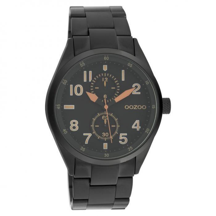 SKU-45673 / OOZOO Timepieces Summer Black Metallic Bracelet