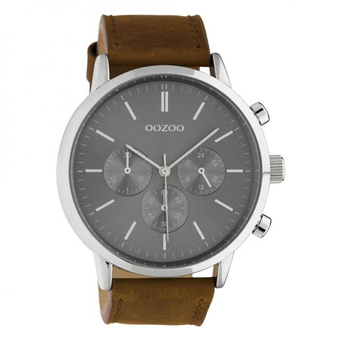 SKU-45656 / OOZOO Timepieces Summer Brown Leather Strap