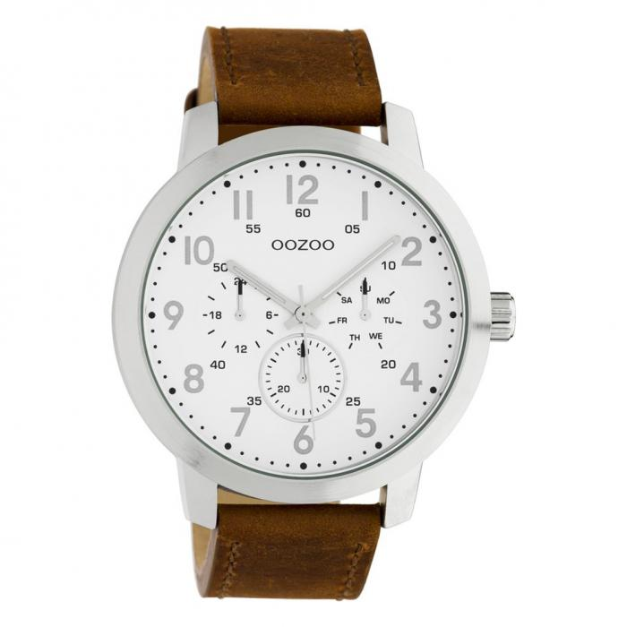 SKU-45658 / OOZOO Timepieces Summer Brown Leather Strap