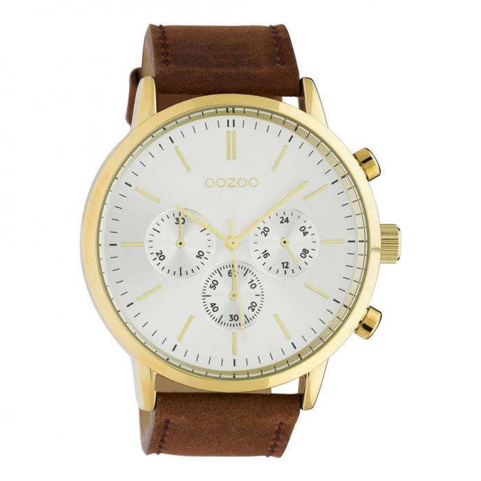 SKU-45672 / OOZOO Timepieces Summer Brown Leather Strap