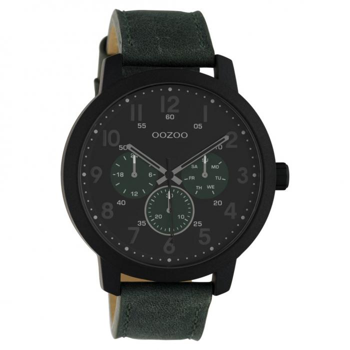 SKU-45669 / OOZOO Timepieces Summer Green Leather Strap