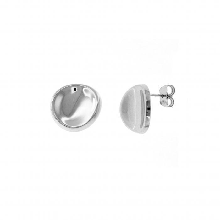 SKU-45307 / Σκουλαρίκια Καρφωτά Λευκόχρυσος Κ14