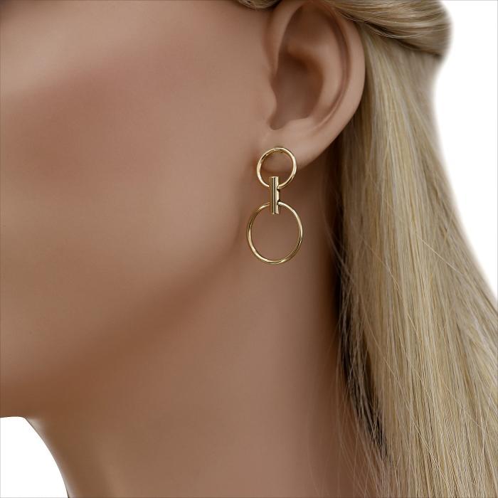 SKU-45838 / Σκουλαρίκια Χρυσός Κ14