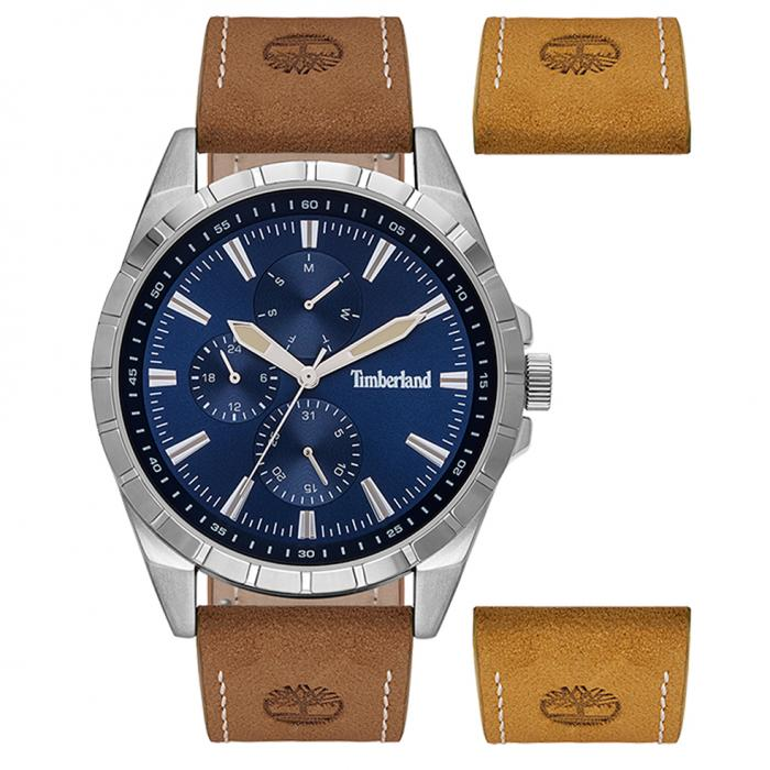 SKU-45730 / TIMBERLAND Boxbourough Brown Leather Strap Gift Set