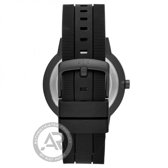 SKU-46135 / ARMANI EXCHANGE Cayde Black Silicone Strap