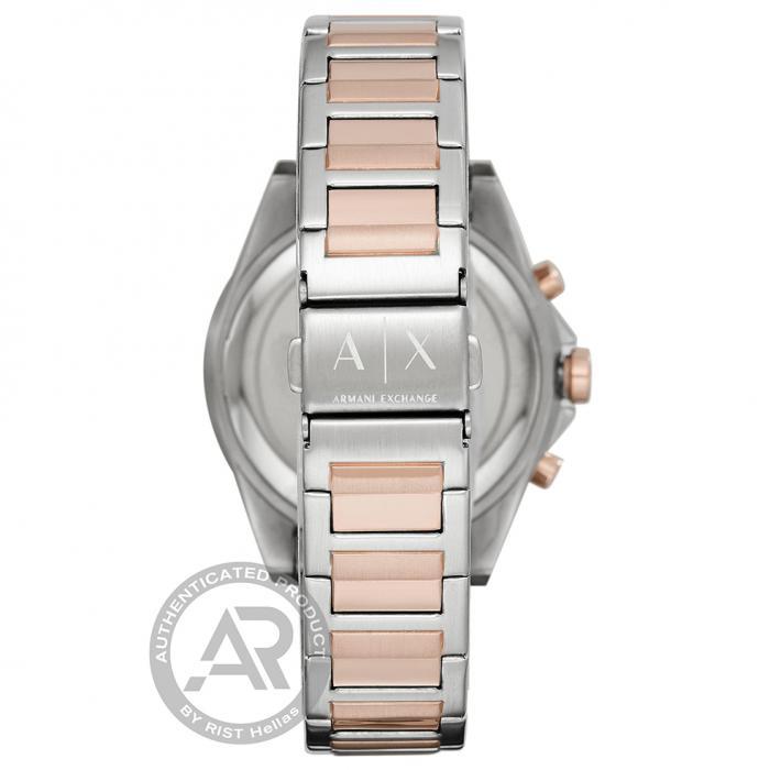 SKU-46141 / ARMANI EXCHANGE Drexler Crystals Two Tone Stainless Steel Bracelet