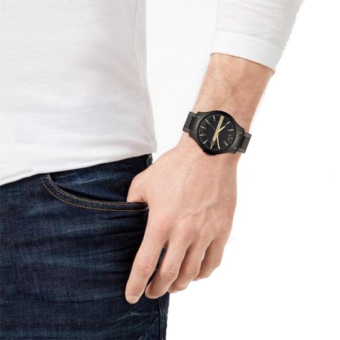 ARMANI EXCHANGE Hampton Black Stainless Steel Bracelet