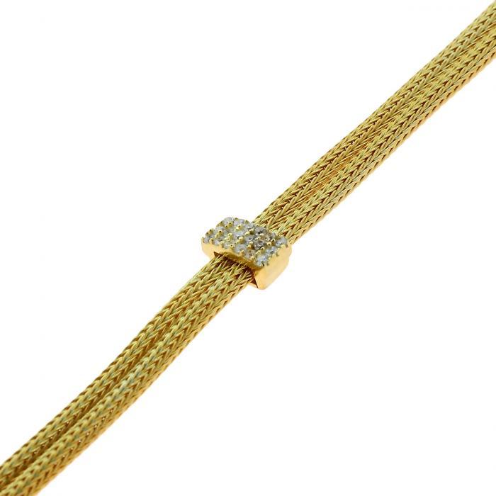 SKU-46676 / Βραχιόλι Ασήμι 925° με Κίτρινο Επιχρύσωμα & Ζιργκόν