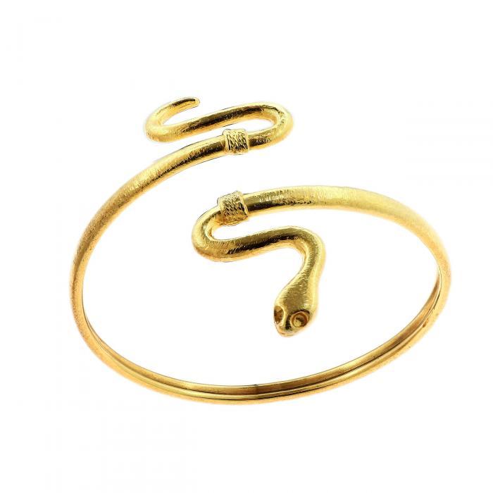 SKU-46973 / Βραχιόλι Χειροπέδα Φίδι Ασήμι 925°
