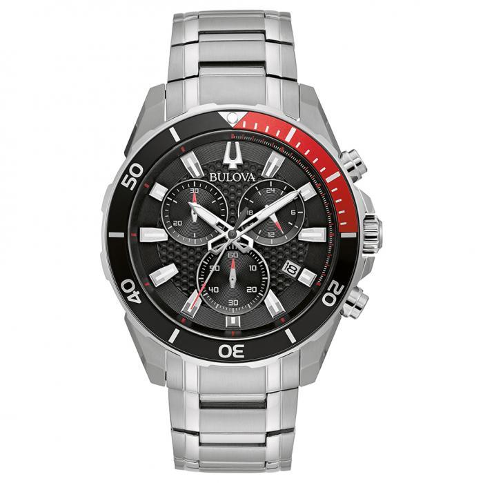 SKU-46122 / BULOVA Sport Chronograph Stainless Steel Bracelet
