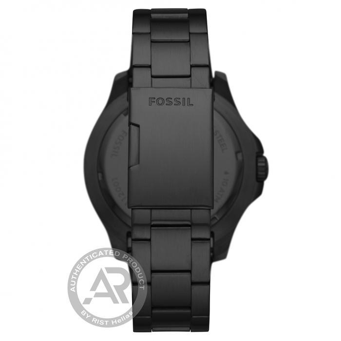 SKU-46161 / FOSSIL FB-02 Black Stainless Steel Bracelet