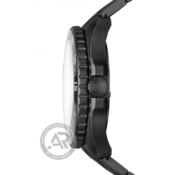 SKU-46161 / FOSSIL FB-02 Black Stainless Steel Bracelet