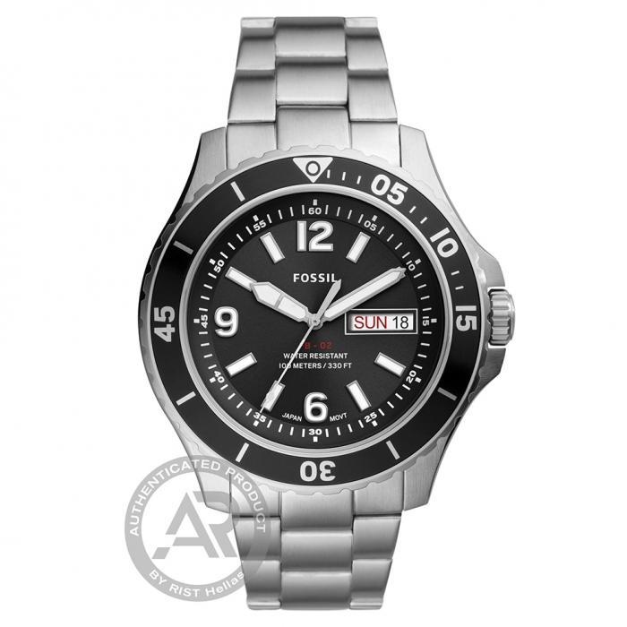 SKU-46160 / FOSSIL FB-02 Silver Stainless Steel Bracelet