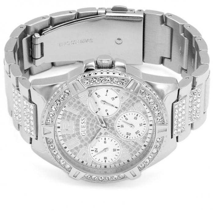 GUESS Crystals Silver Stainless Steel Bracelet