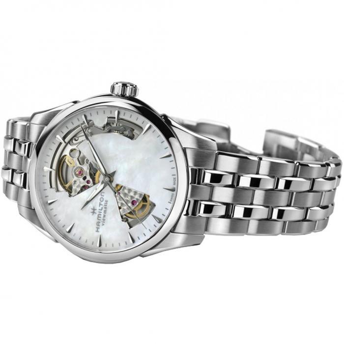 SKU-46881 / HAMILTON Jazzmaster Open Heart Automatic Stainless Steel Bracelet