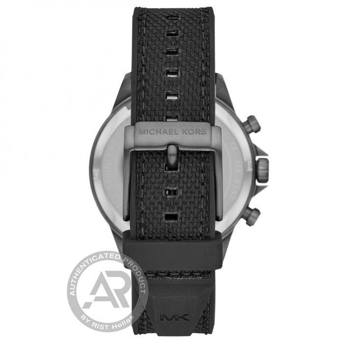 SKU-46219 / MICHAEL KORS Gage Chronograph Black Rubber Strap