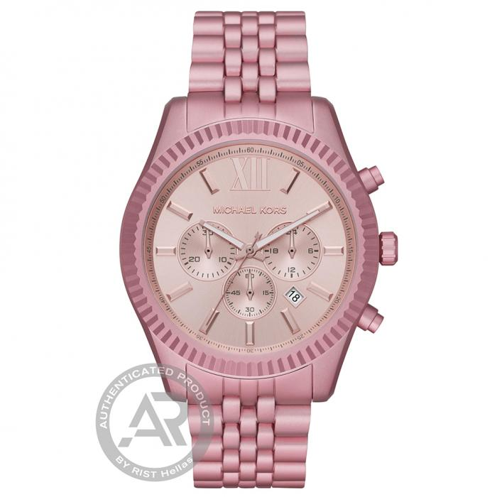 SKU-46222 / MICHAEL KORS Lexington Chronograph Pink Aluminium Bracelet