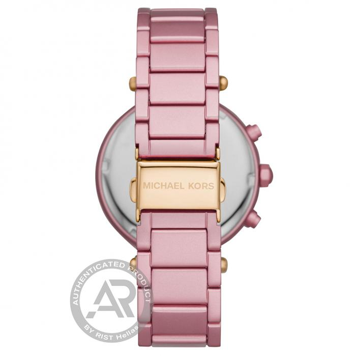 SKU-46193 / MICHAEL KORS Parker Chronograph Crystals Pink Stainless Steel Bracelet