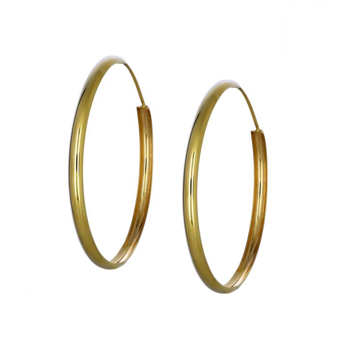 SKU-46114 / Σκουλαρίκια Κρίκοι Χρυσός Κ14