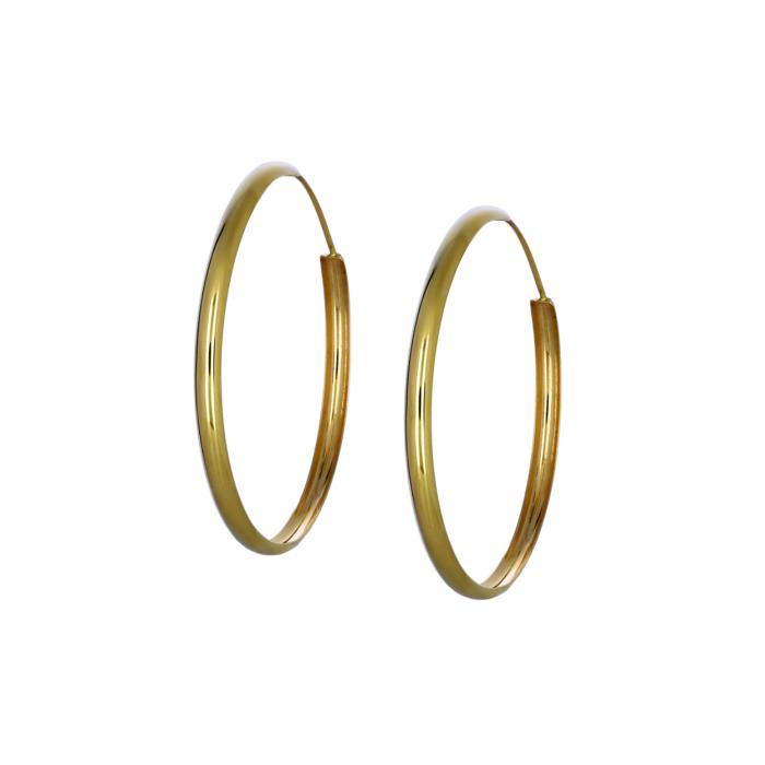 SKU-46116 / Σκουλαρίκια Κρίκοι Χρυσός Κ14