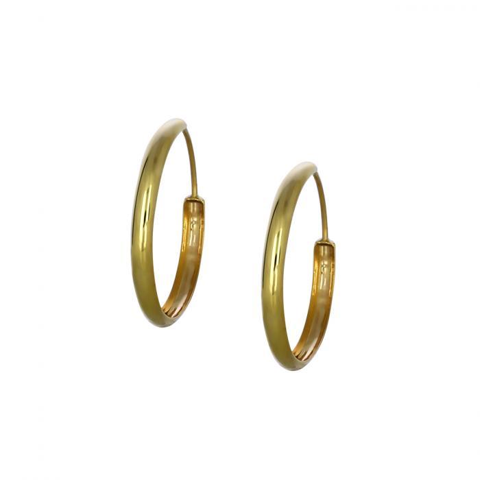 SKU-46118 / Σκουλαρίκια Κρίκοι Χρυσός Κ14