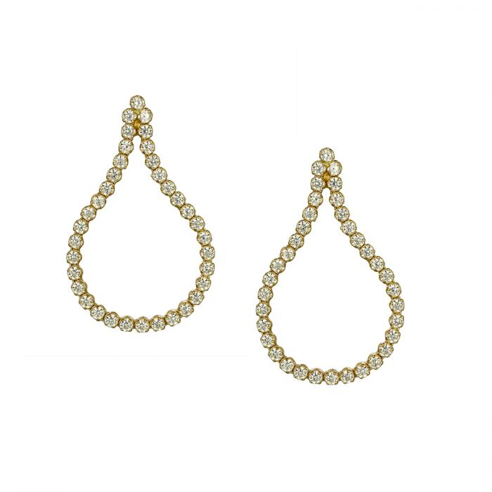 SKU-46652 / Σκουλαρίκια Χρυσός Κ14 με Ζιργκόν