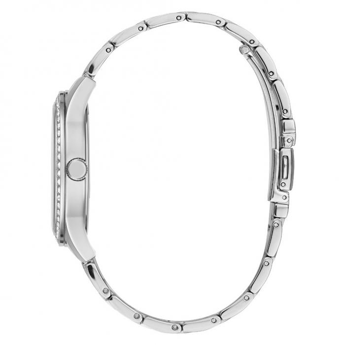 GUESS Crystal Silver Stainless Steel Bracelet