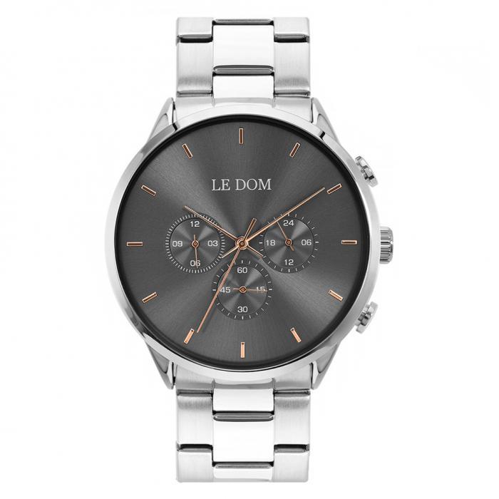 SKU-47440 / LE DOM Principal Chronograph Silver Stainless Steel Bracelet