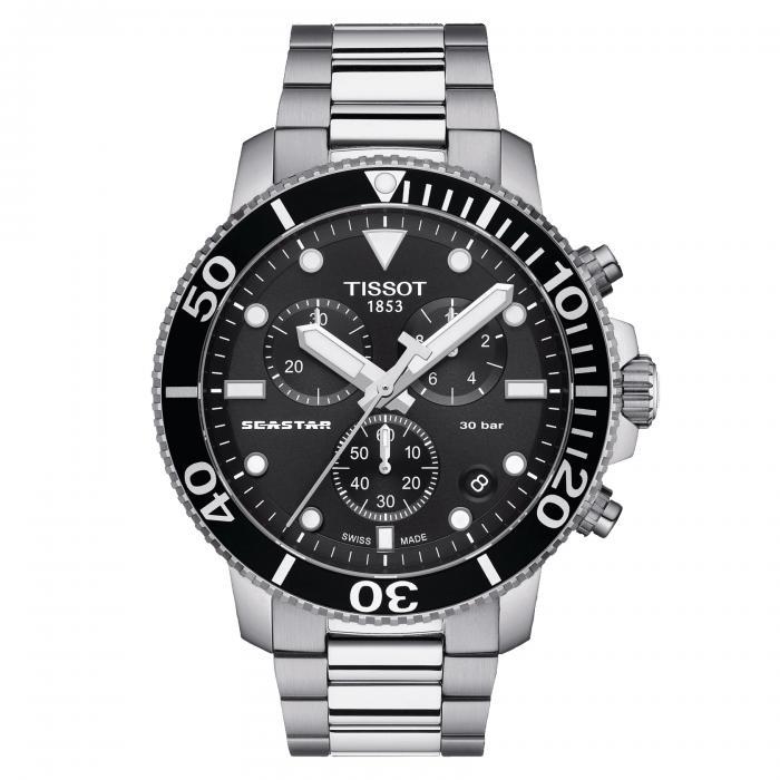 SKU-47720 / TISSOT Seastar 1000 Chronograph Stainless Steel Bracelet
