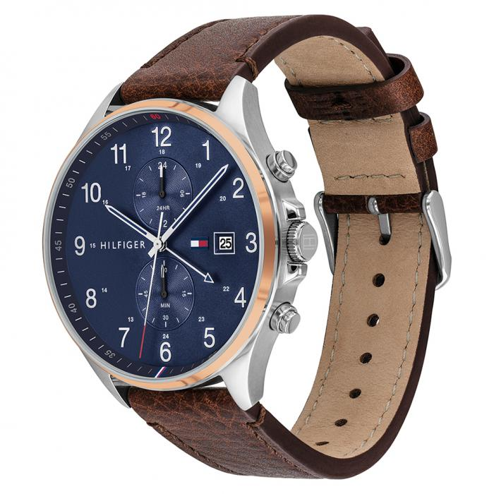 SKU-47744 / TOMMY HILFIGER West Brown Leather Strap