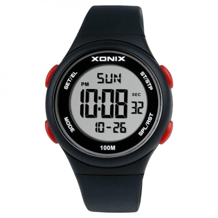 SKU-47708 / XONIX Digital Black Silicone Strap