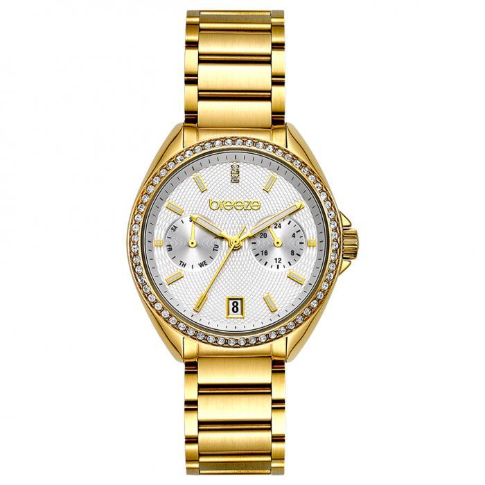 SKU-47905 / BREEZE Royalisse Crystals Gold Stainless Steel Bracelet