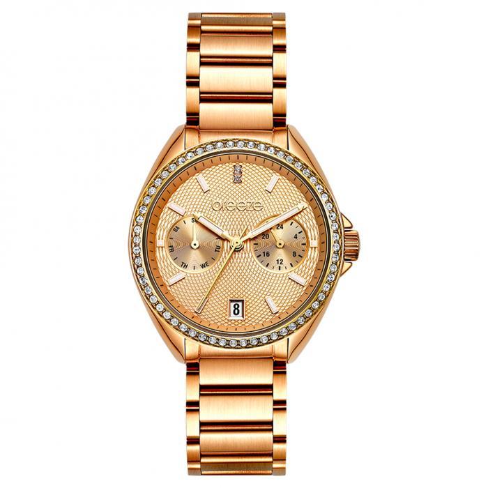 SKU-47910 / BREEZE Royalisse Crystals Rose Gold Stainless Steel Bracelet