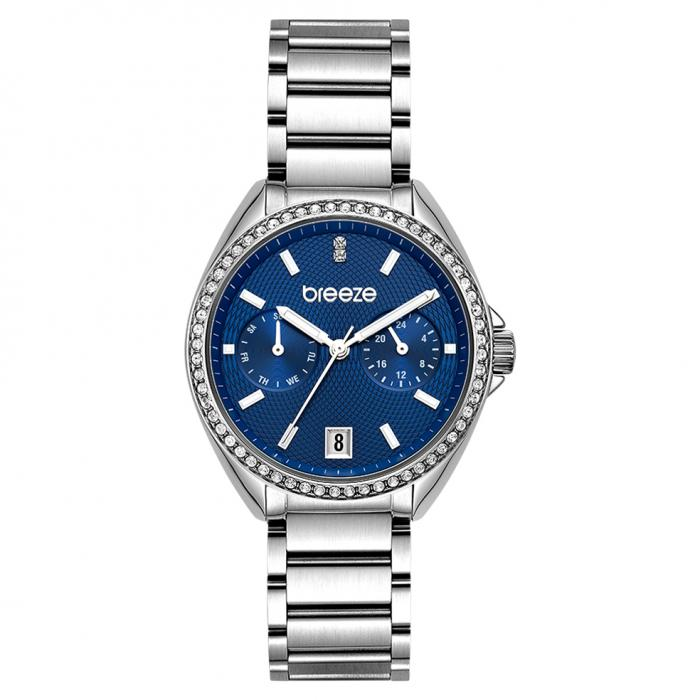 SKU-47921 / BREEZE Royalisse Crystals Silver Stainless Steel Bracelet