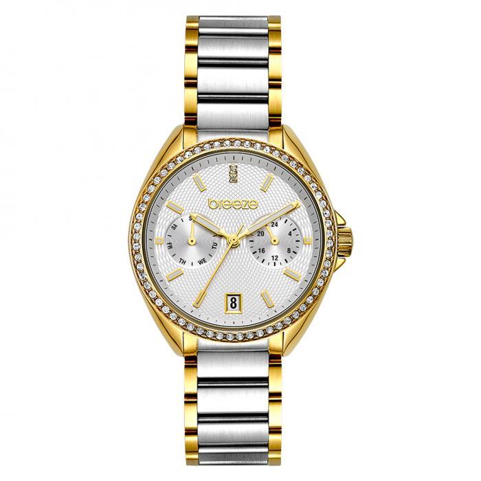 SKU-47930 / BREEZE Royalisse Crystals Two Tone Stainless Steel Bracelet
