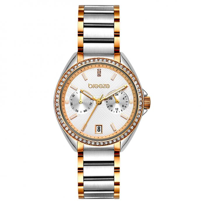SKU-47933 / BREEZE Royalisse Crystals Two Tone Stainless Steel Bracelet
