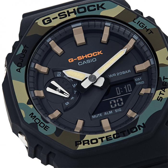 SKU-47362 / CASIO G-Shock Anadigi Chronograph Black Rubber Strap