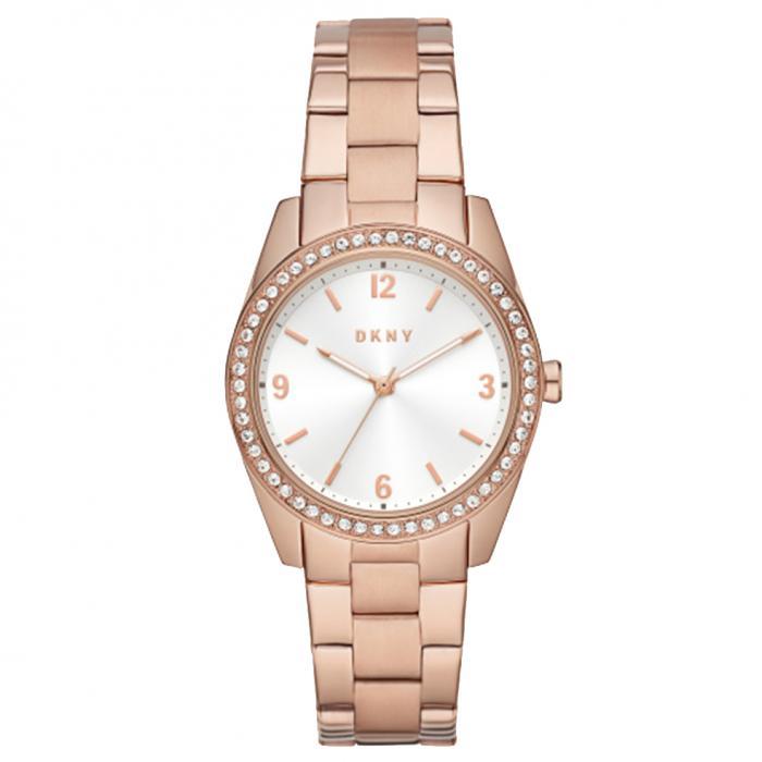 SKU-47576 / DKNY Nolita Crystals Rose Gold Stainless Steel Bracelet
