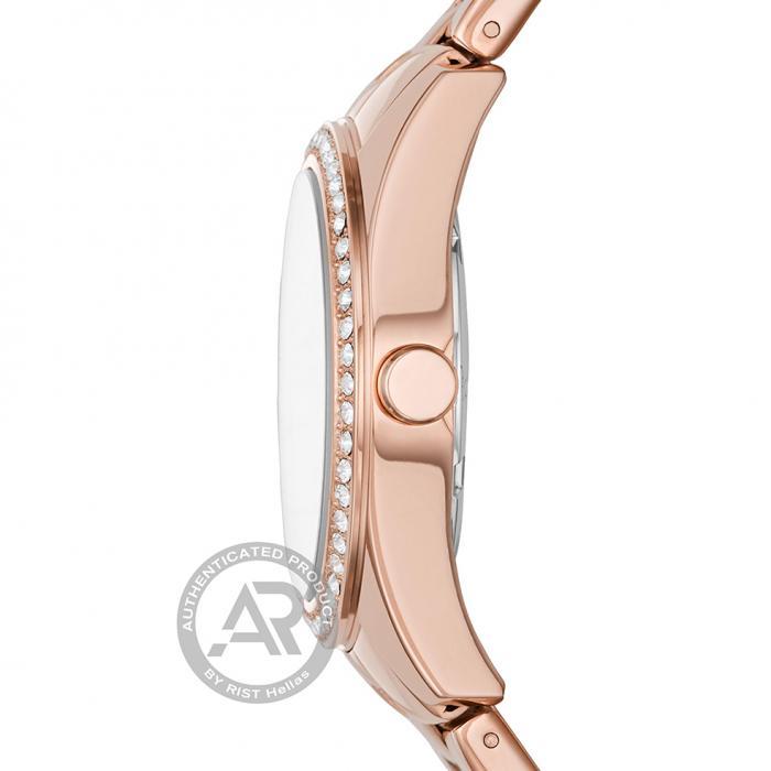 DKNY Nolita Crystals Rose Gold Stainless Steel Bracelet
