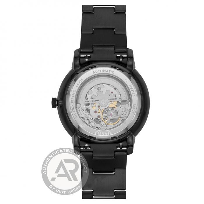 SKU-47086 / FOSSIL Neutra Automatic Black Stainless Steel Bracelet